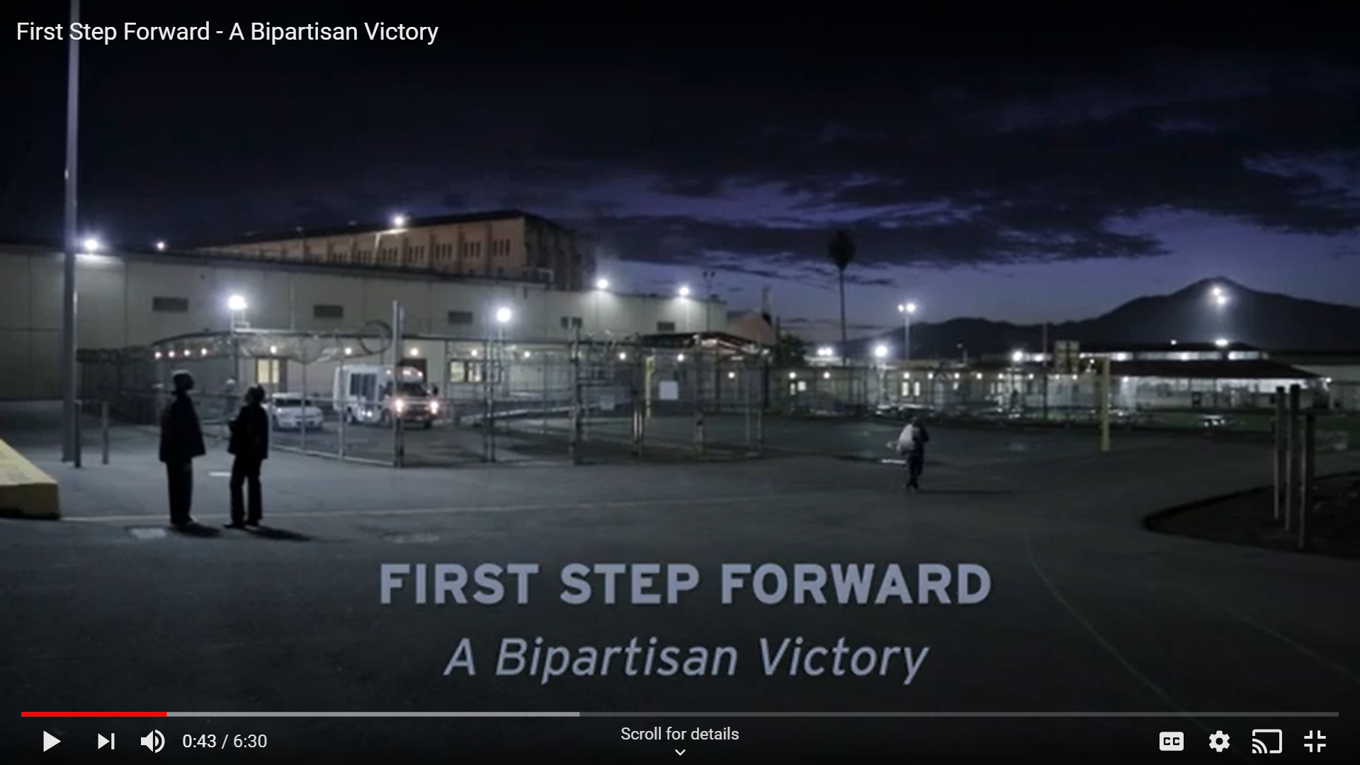 First Step Forward - A Bipartisan Victory