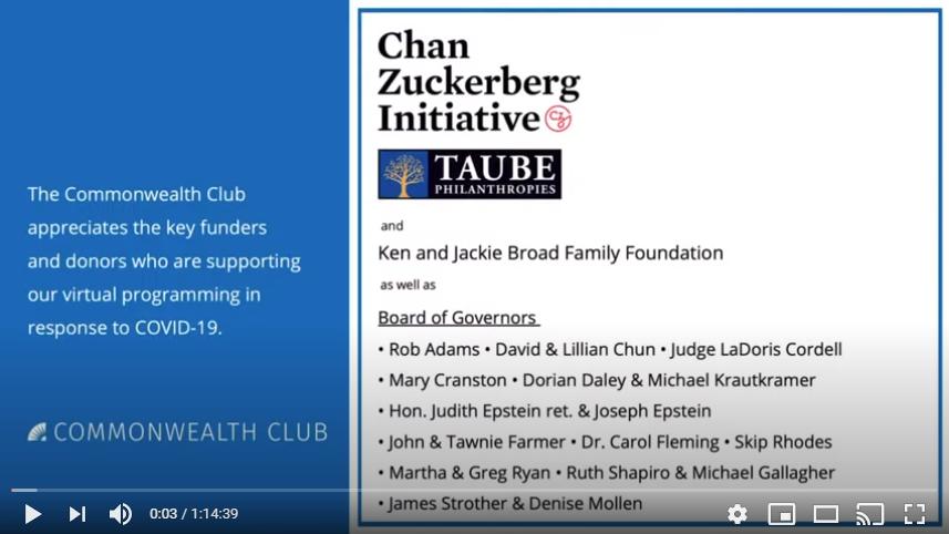 Conversations with Distinguished Citizens: Lauren Dachs and The S. D. Bechtel, Jr. Foundation