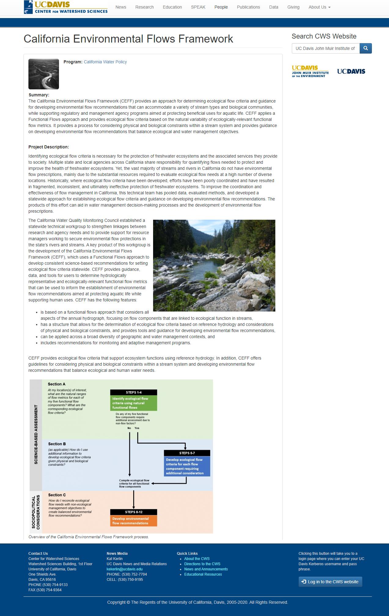 California Environmental Flows Framework