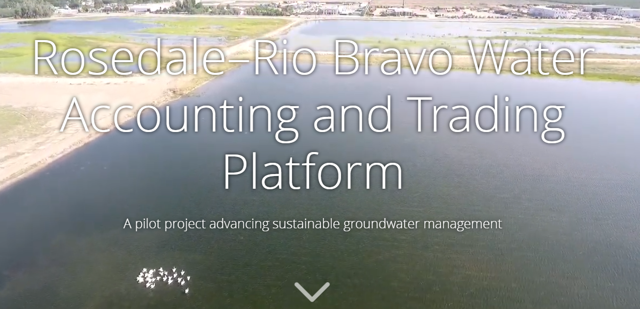 Rosedale–Rio Bravo Water Accounting and Trading Platform: A pilot project advancing sustainable groundwater management